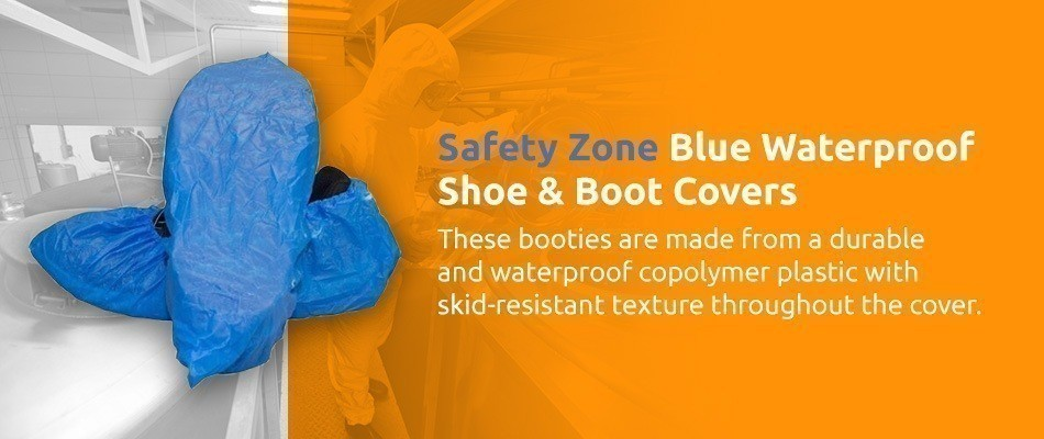 Safety Zone Waterproof Disposable Shoe Covers