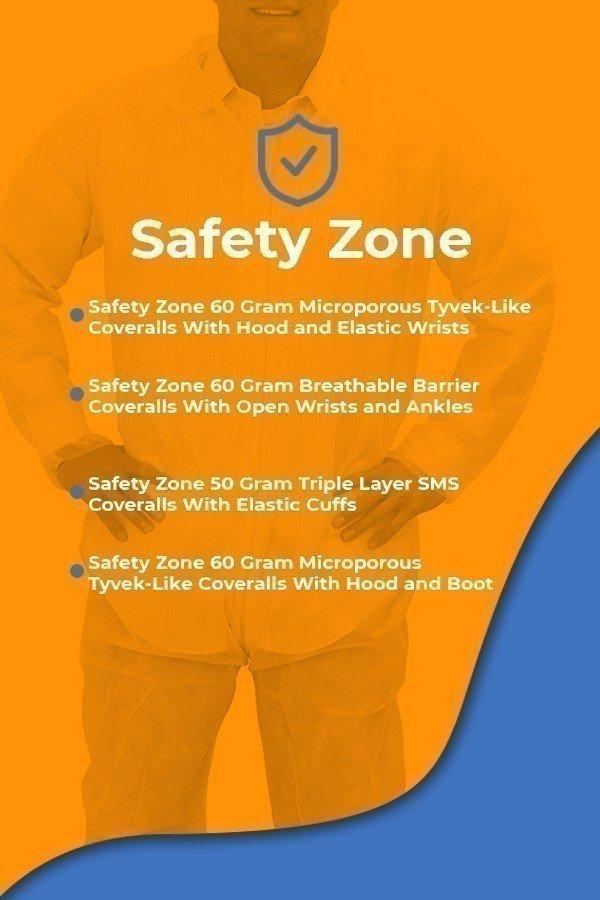 Safety Zone Splash Resistant Work Coveralls