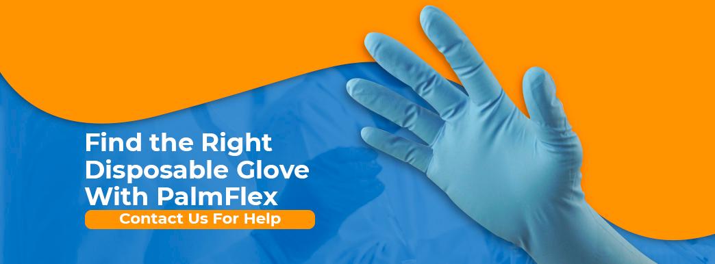 PalmFlex Disposable Gloves | Nitrile, Latex, Vinyl