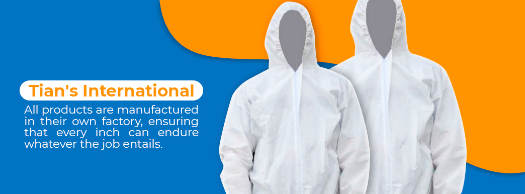 Tian's International Splash Resistant Coveralls
