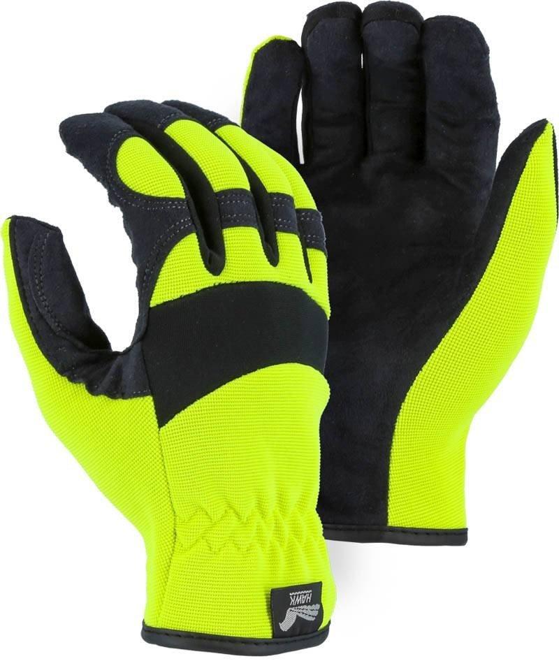 Majestic 2136 Armor Skin Hi Vis Gloves Palmflex