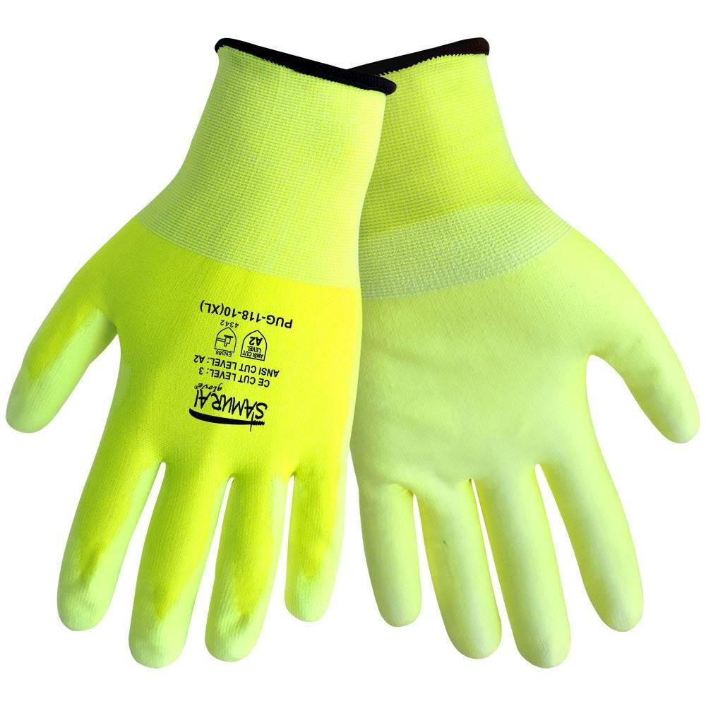 cc3d77fa289 Brands · Global Glove  Global Glove Samurai PUG-118 -PU on HDPE- Hi Vis  Ansi Level 2 Cut Resistance