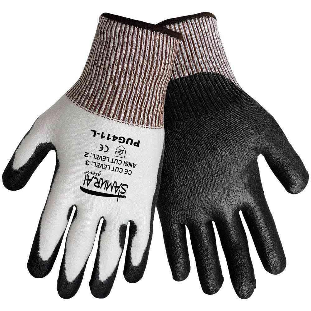 1756b855ba8 Brands · Global Glove  Global Glove PUG-411 Samurai Gloves - Tuffalene HDPE  Shell - Black Polyurethane Dipped Palm