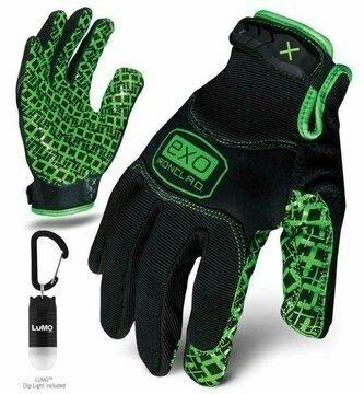 Ironclad EXO Motor Grip Gloves w/ Free Lumo Cliplight