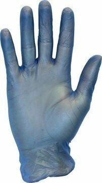 Safety Zone Blue 4 Mil Vinyl Powdered Gloves