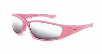 Crossfire MP7 24263 Silver Mirror Lens, Soft Pink Frame, Foam Lined Safety Glasses