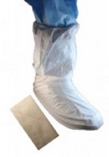 "Tian's MP Coated 18"" Tall Cleanroom Shoe Covers #52658"