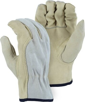 Majestic 1532B Combination Cowhide Drivers Gloves