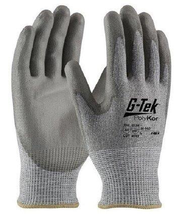 PIP G-Tek 16-560 Seamless Knit Polykor Blended Gray Polyurethane Coated Cut Level 5 Gloves