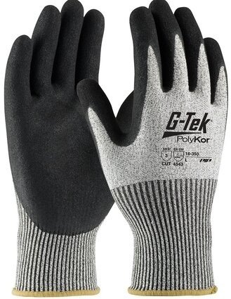 PIP G-Tek 16-350 Polykor Blended Double-Dipped Nitrile Coated Cut Level 5 Gloves With MicroSurface Grip