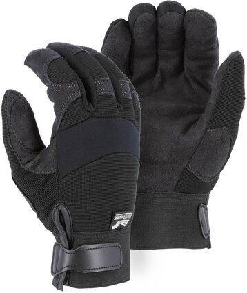 Majestic 2137BKF Fleece Lined Armor Skin Mechanics Gloves