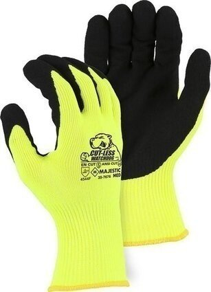 Majestic 35-7676 Cut-Less Watchdog Gloves with Sandy Nitrile Palm - Cut Level A6
