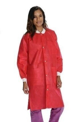 ValuMax 3660 Extra Safe Fluid Resistant, Breathable SMS Lab Coat - Unisex - with Pockets