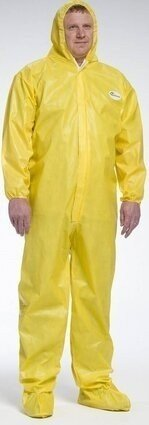 West Chester 3679B PosiUB Plus Yellow Coveralls with Hood and Boots - Tyvek Alternative