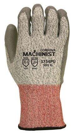 Cordova 3734PU HPPE Safety Machinist Cut Level 5, Ansi 4 Gloves
