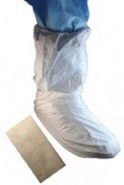 """Tian's MP Coated 18"""" Tall Cleanroom Shoe Covers #52658"""