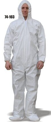 Majestic 74-103 ComforTEX Microporous Coveralls with Attached Hood and Boots