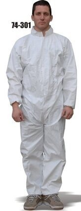 Majestic 74-301 ResisTEX PP/CPE Coated Coveralls with Elastic Wrist and Ankles