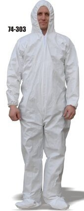 Majestic 74-303 ResisTEX PP/CPE Coated Coveralls with Hood and Boots