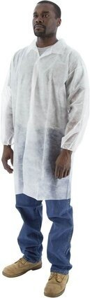Majestic Polypropylene Lab Coats - No Pockets