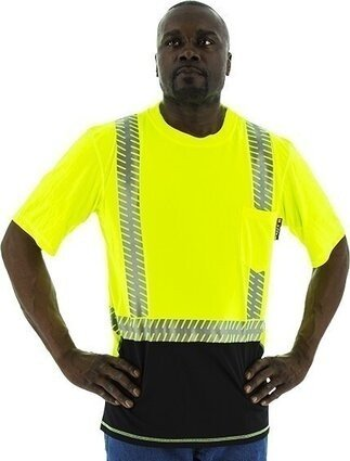 Majestic Hi-Vis Snag Resistant Short Sleeve Shirt with Reflective Chainsaw Striping - ANSI 2