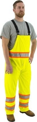 Majestic 75-7353 Hi Vis Waterproof Bib Overalls With DOT Striping