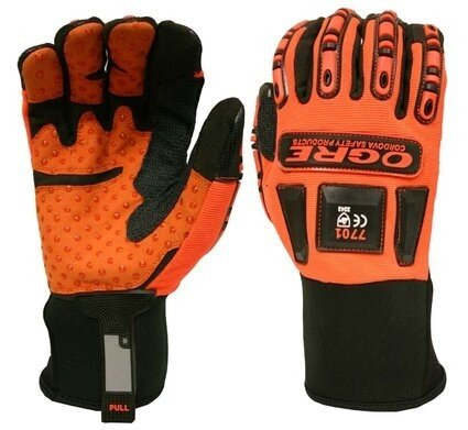Cordova Ogre 7701 Hi Vis Impact Gloves with Silicone Dot Grip