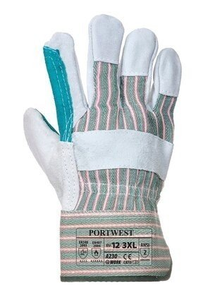 Portwest A230 Double Palm Rigger Gloves - Split Leather