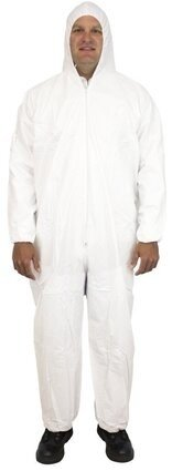 Safety Zone 60 Gram Microporous Tyvek-like Coveralls with Hood & Elastic Wrists - DCWH-BB-HEWA