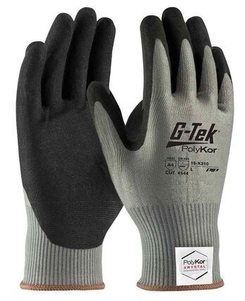 PIP G-Tek 16-X310 Polykor Xrystal Blended Nitrile Coated Cut Level 5 Gloves With MicroSurface Grip