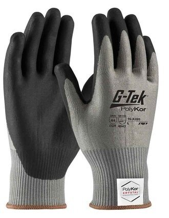 PIP G-Tek 16-X320 Polykor Xrystal Blended Nitrile Coated Cut Level 5 Gloves With Foam Grip