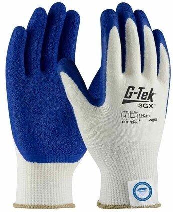 PIP G-Tek 3GX 19-D313 Dyneema Diamond Latex Coated Crinkle Grip Cut Level 5 Gloves