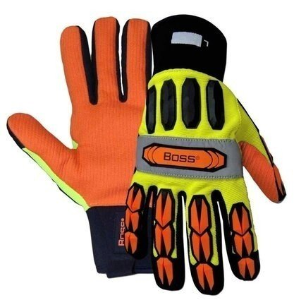 Boss 1JM610 Hi-Vis Impact Pro Gloves
