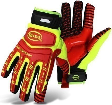 BOSS 1JM770 Hi-Vis Anti-Vibration Impact Gloves