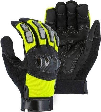 Majestic 2123HV Knuckle Guard Heavyweight Hi Vis Gloves