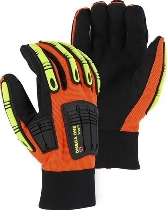 Majestic 21252 Knucklehead Omega 1 Hi Vis Gloves