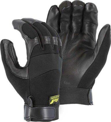Majestic 2151 Black Hawk Mechanics Gloves with Deerskin Palm