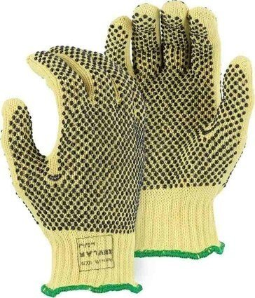 Majestic 3111 PVC Dotted Kevlar Heavyweight Gloves - Dozen - Made in USA