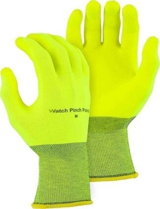 Majestic 3368HVY SuperDex Hydropellent Hi Vis Yellow Palm Dipped Gloves