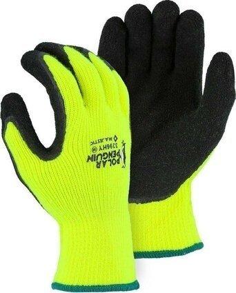Majestic 3396 Hi Vis Polar Penguin Gloves Ansi Cut Level 2