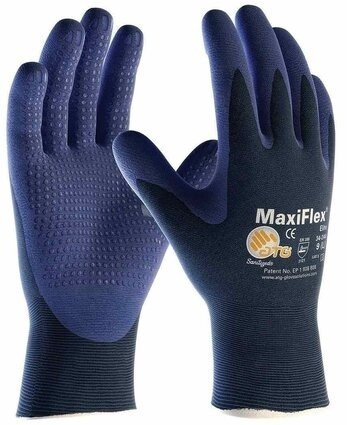 PIP 34-244 MaxiFlex Elite Nitrile Foam Dotted Palm Coated Gloves