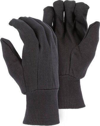 Majestic 3401B Cotton Blend Brown Jersey Gloves