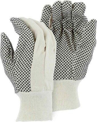 Majestic 3405 Cotton Gloves with Dots - Size Large