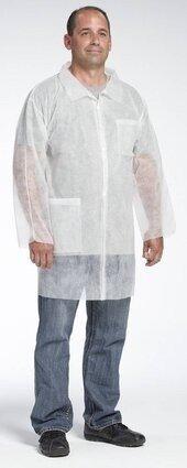 West Chester 3514 Spunbond Polypropylene Lab Coat - With Pockets, Open Wrists
