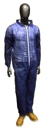 West Chester 3575 Navy Blue Standard Polypropylene Coveralls - Open Cuffs
