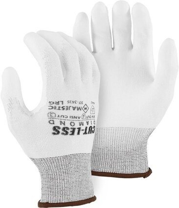 Majestic 37-3435 Dyneema White Gloves Cut Level 4