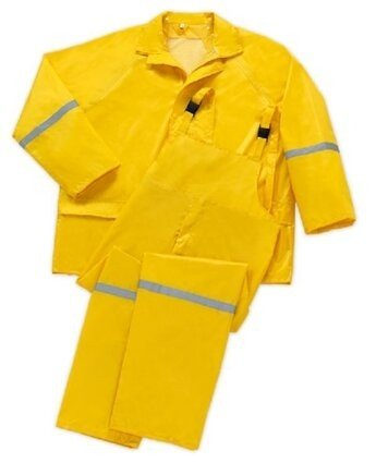 West Chester Yellow 3-Piece PVC Polyester Rain Suit