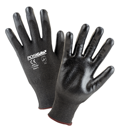 West Chester Black PosiGrip Cut Resistant ANSI 2 Gloves