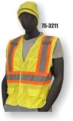Majestic 75-3211 Hi-Vis Compliant Vest with Velcro - ANSI 2