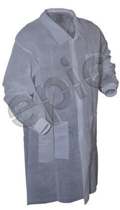 Tian's 845884 Polypropylene Lab Coats with Knit Wrists and Pockets
